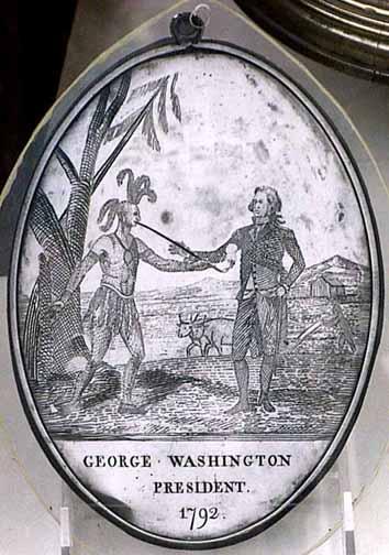 Red Jacket's Peace Metal from George Washington (Image credit: buffaloah.com)